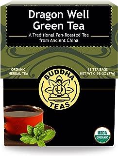 Organic Dragon Well Green Tea - Kosher, Contains Caffeine, GMO-Free - 18 Bleach Free Tea Bags