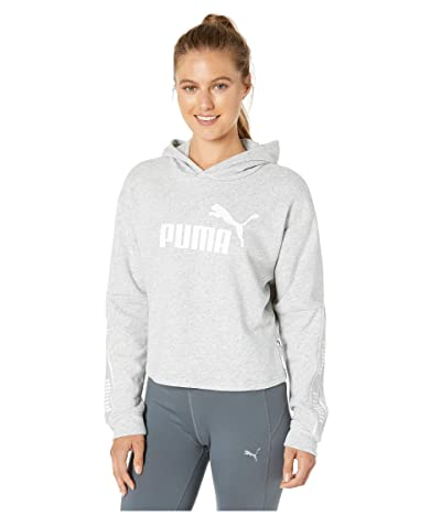 PUMA Amplified Cropped Hoodie (Light Grey Heather) Women