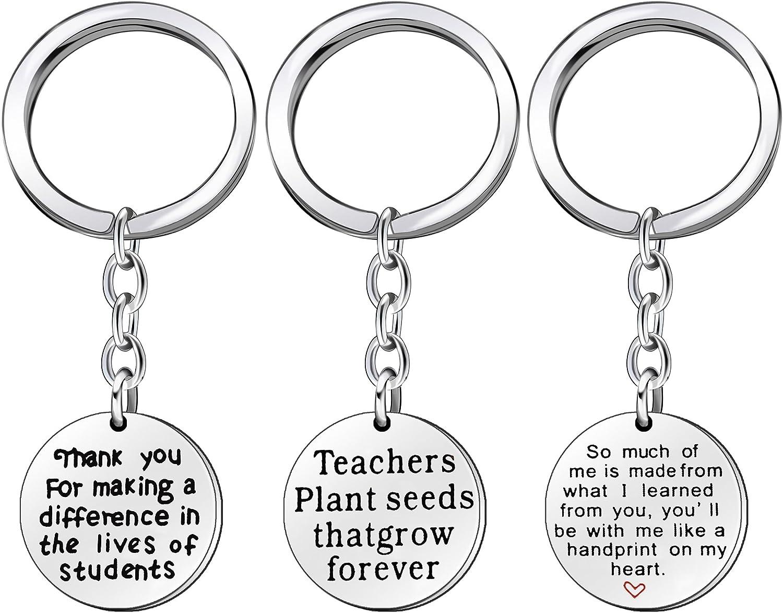 3PCS Teacher safety Appreciation Gifts Key Chain b Men a takes Mesa Mall Women It