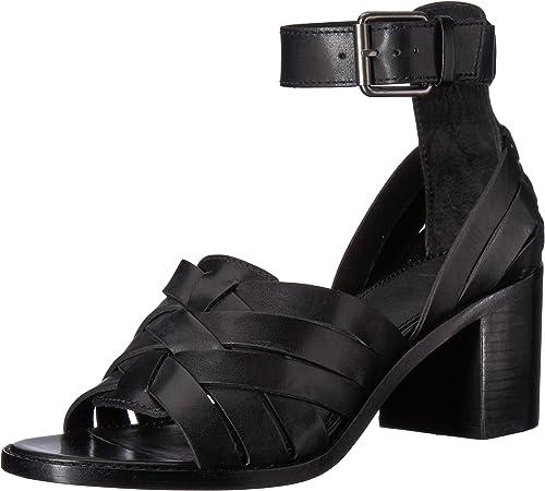 FRYE damen& 039;s Weiß Hurache 2 Piece Heeled Sandal, schwarz, 10 M US