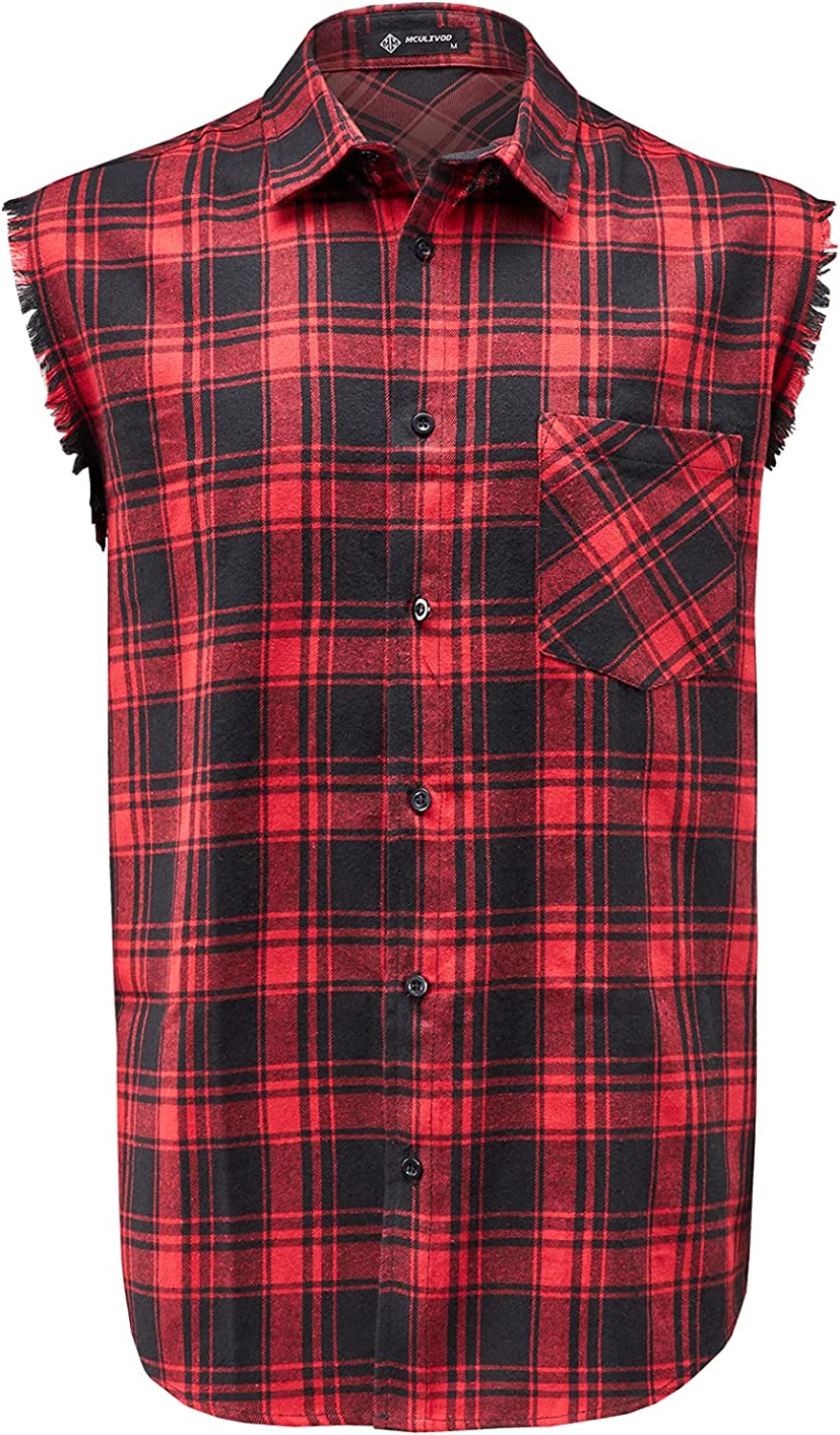 Sleeveless Plaid Front sale Shirt for Men Down Challenge the lowest price of Japan ☆ Shirts Cowboy Button