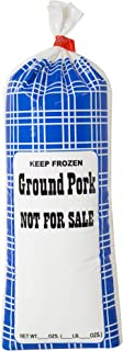 """UltraSource-190004 Ground Pork Freezer Bags, 1lb. """"Not for Sale"""" (Pack of 1000), for Packaging Ground Pork and All Meats"""