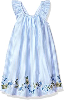 cc81fef610e93 Mud Pie Baby Girls Floral Striped Flutter Sleeve Casual Dress