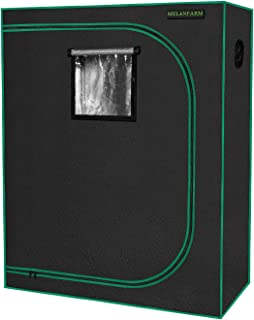 "MELONFARM Grow Tent 48""x24""x60"" Reflective 600D Mylar Hydroponic with Observation Window, Floor Tray and Tool Bag for Grow..."