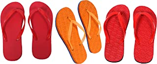 Red, Red And Orange Combo 3 Women's House Slippers