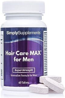 Hair Care MAX para hombres - 60 comprimidos - 16 vitaminas y minerales. incluyendo biotina y zinc - SimplySupplements