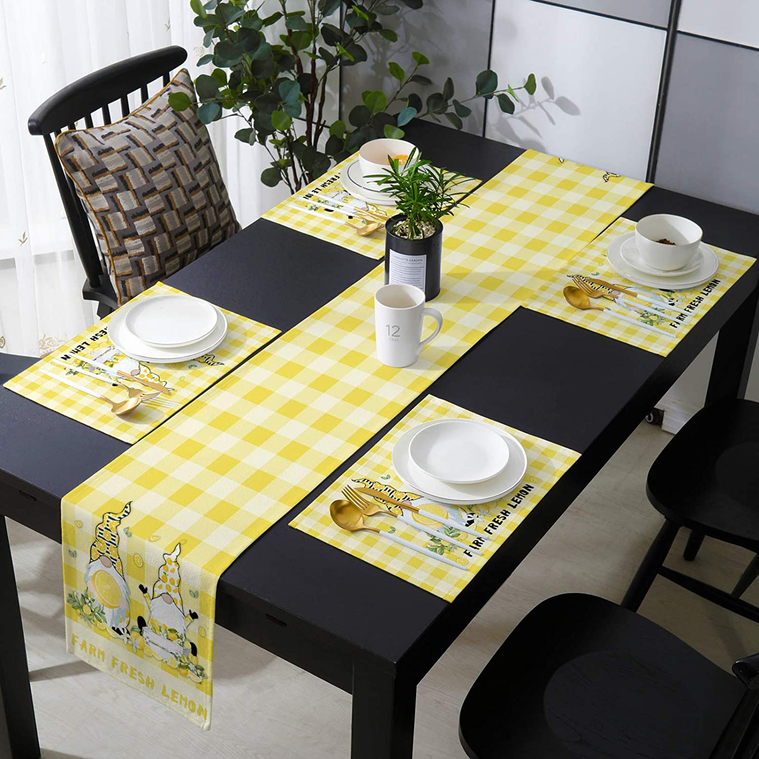 MuswannaA Placemats and Table Runner Dining Easy-to-use B Manufacturer regenerated product Set Cute for