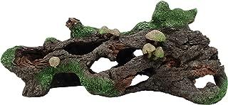 Marina Hollow Log with Moss Cover/Mushroom Betta Aquarium Decor