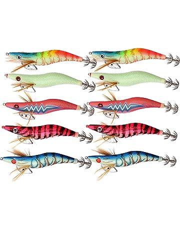 Sele Oferta para la Pesca de Sepias y calamares compuesta por 5 cebos Artificiales de Colores Modelos y tama/ños Surtidos RIF.mag LT23