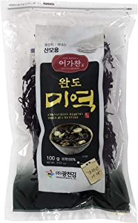 100g (3.52 oz) - Healthy Dried Sea Mustard Ingredient: Brown Seaweed / Resealable Bag 산모용 미역 (3.52 Ounce (Pack of 1))