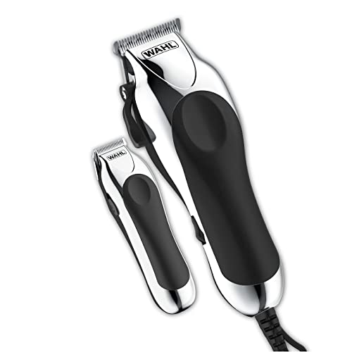 Wahl Deluxe Chrome Pro, Complete Hair and Beard Clipping and Trimming Kit, Includes Quality