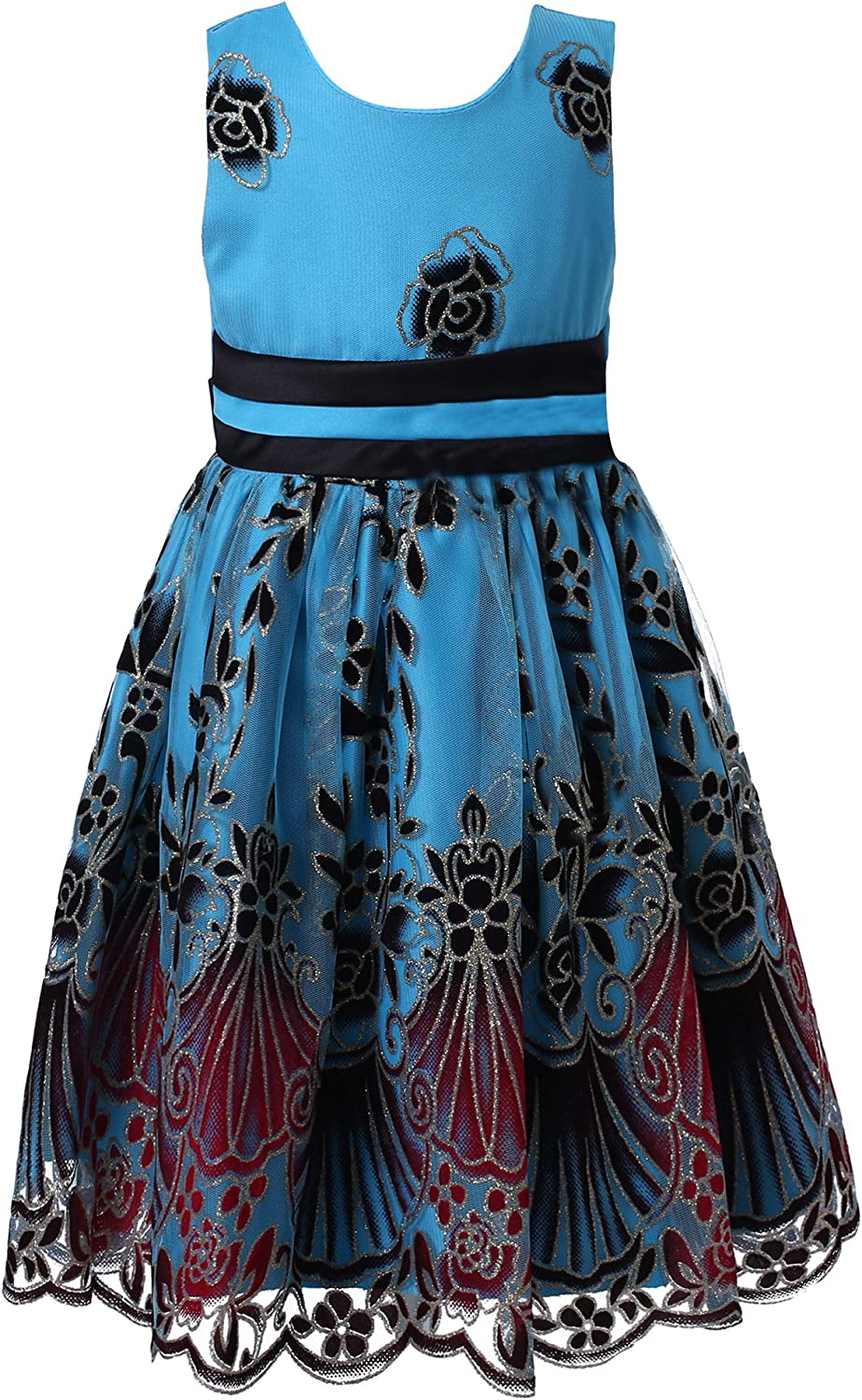 Richie House Girls' Sweet Party Multi-Layered Dress Size 2-12Y RH2142