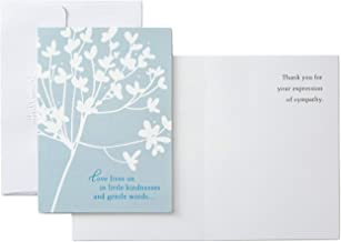 Hallmark Pack of 20 Thank You for Your Sympathy Cards, Cherry Blossom (Funeral Thank You Cards)