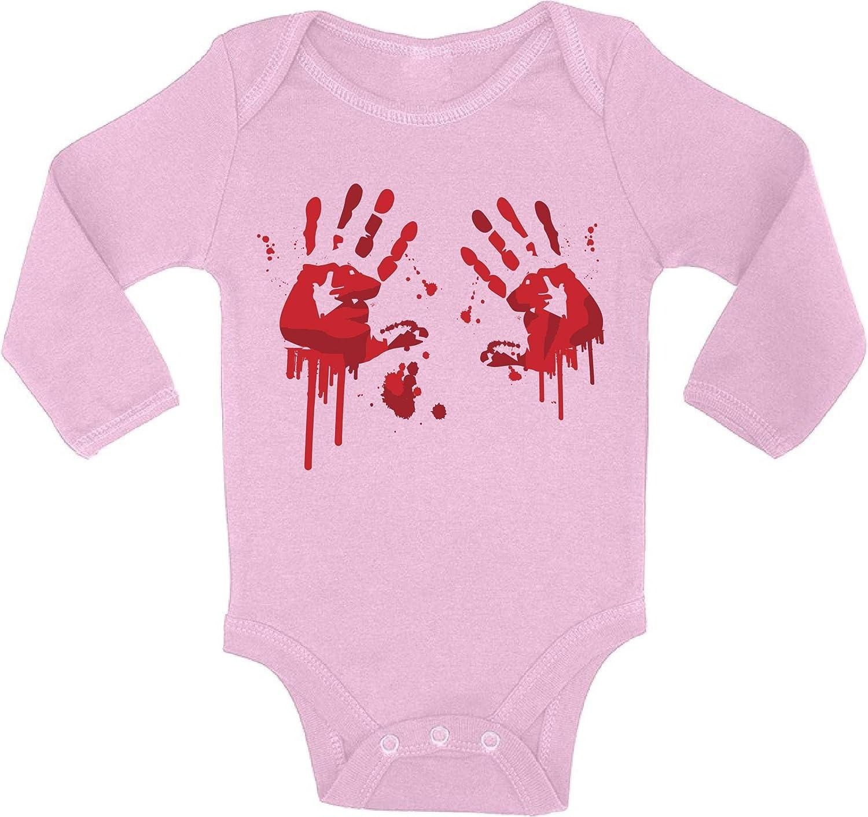 Awkward Styles Halloween Bodysuit Bloody Handprints Baby Romper