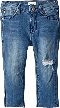 Five-Pocket Raw Hem Ankle Skinny - French Terry in Second Hand Blue (Infant)