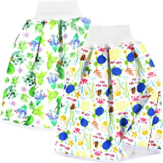 Langsprit Unisex Baby Cloth Diaper Guards for Potty Training - Reusable Diaper Skirt/Short for Night Time - Washable Mattr...