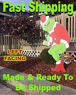 Grinch Stealing Christmas Lights LEFT FACING Yard Art FAST SHIPPING