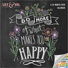 Chalkboard Inspiration - Lily & Val Calendar 2020 Set - Deluxe 2020 Motivational Wall Calendar with Over 100 Calendar Stickers (Chalkboard Art Gifts, Office Supplies)