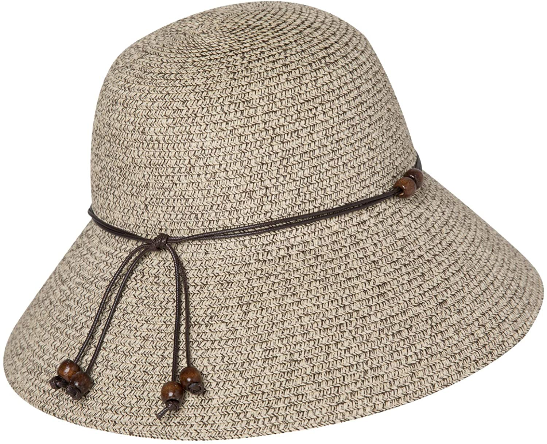Comhats Womens Floppy Summer Sun Beach Straw Hat UPF50 Foldable Wide Brim 55-60cm