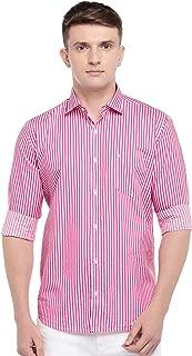 Easies by Killer Men's Pink Slim Fit Shirts