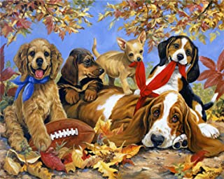 Jigsaw Puzzle 500 Piece Art for Teen Adult,Grown Up Puzzles for Beginner Large Toy Games Educational Gift Home Decor (Dogs)