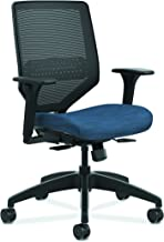 The HON Company HON Solve Series Mesh Task Mid Back Office Chair for Computer Desk, Midnight (HSLVTMM), COMP90