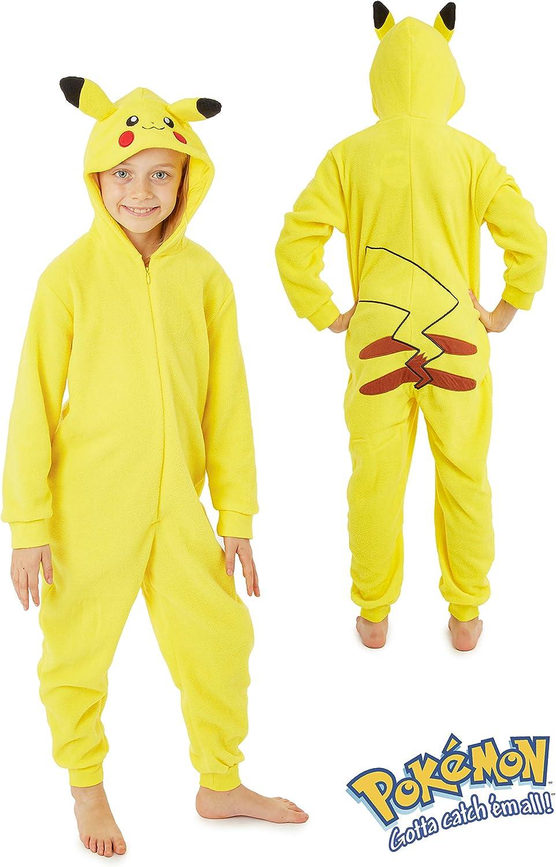 Pokèmon Pikachu Pijama Entero para Niños Niñas De Una Pieza ...