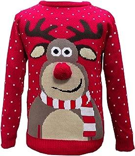 Femme 2 Happy Rudolph Noël Pull Tricot Top Nouveauté Mignon Renne