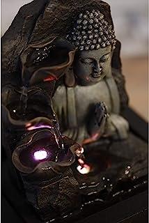zen' Light SPIRITUALITE Brunnen Polyresin dunkelbrau