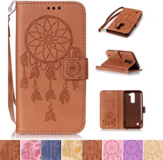 LG K7 / K8 Case, LG Tribute 5 Case, LG Escape 3 Case, Firefish [Kickstand] [Card/Cash Slots] Wallet Folio [Magnetic Closure] Case with Wrist Strap for LG K7/ K8/ Tribute 5/ Escape 3- Net-B