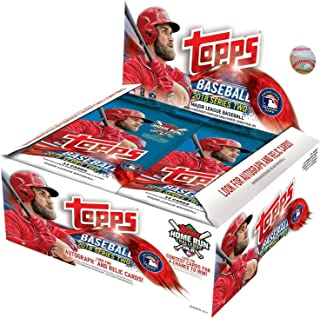 Topps 2018 Series 2 Baseball Retail Display Box 24 Packs of Cards Loaded with Inserts and possible Otani Rookie