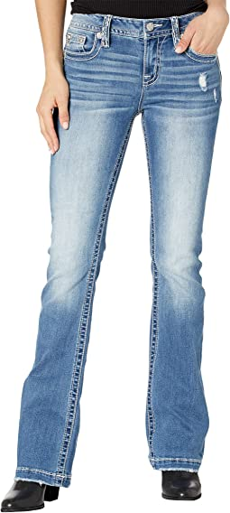 Feather Pocket Bootcut in Medium Blue