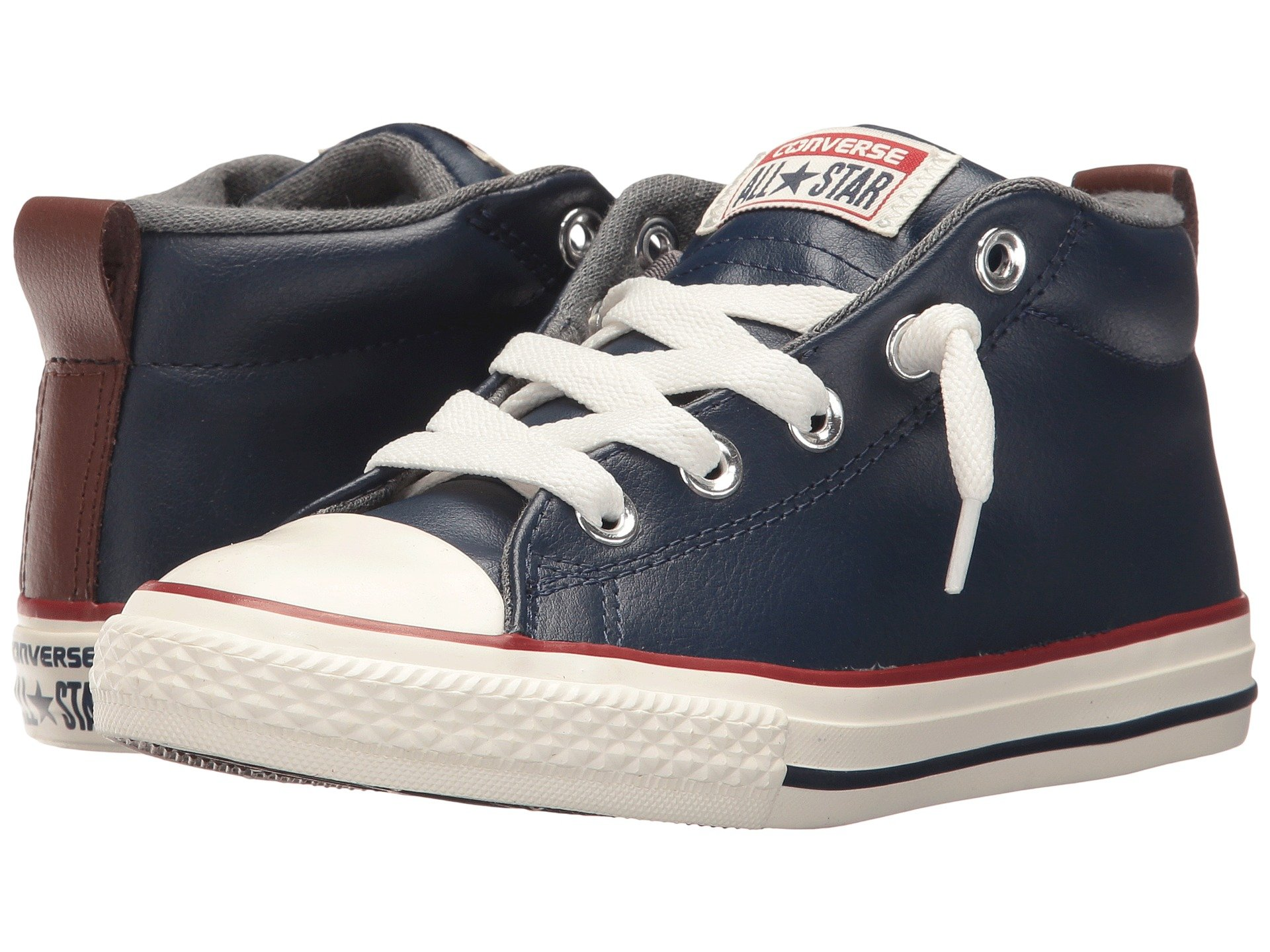 converse for kids. view more like this converse kids - chuck taylor all star street leather and fleece mid (little kid/ for