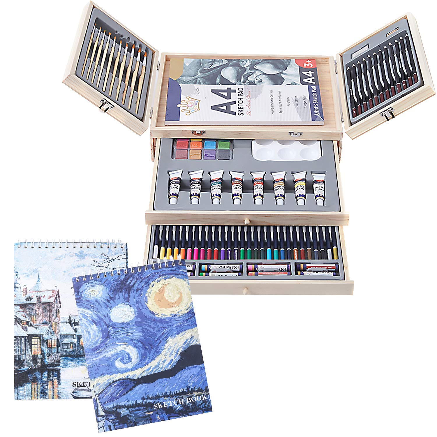 Professional Deluxe Portable Case Painting Drawing