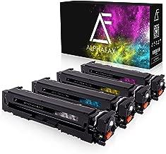 4 Alphafax Toner kompatibel zu HP CF540A CF541A CF542A CF543A für Color Laserjet Pro M-280nw M-281fdn M-281fdw M254nw M254dw - 203A