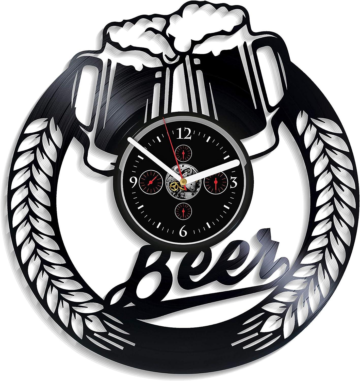 Kovides Beer Wall Clock Vintage Record Retro Vinyl New Shipping Free Columbus Mall La