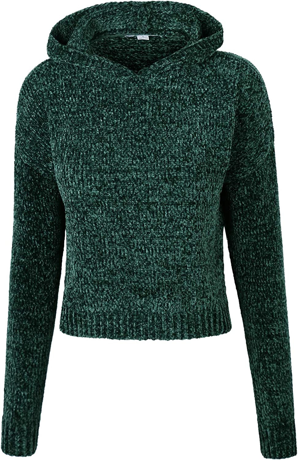 Makeitmint Women's Super Soft Ribbed Chenille Hoodie Knit Sweater Top [3 colors]