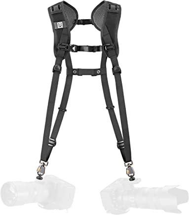 BlackRapid Breathe Double Camera Harness, 2 pcs of Safety tethers Included