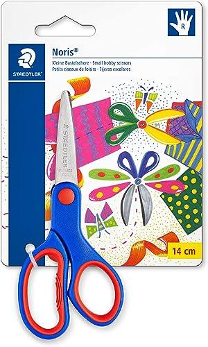 Staedtler Noris 965, Ciseaux droitiers à bouts arrondis, Sécurisés pour les enfants, Étui blister avec 1 paire de cis...