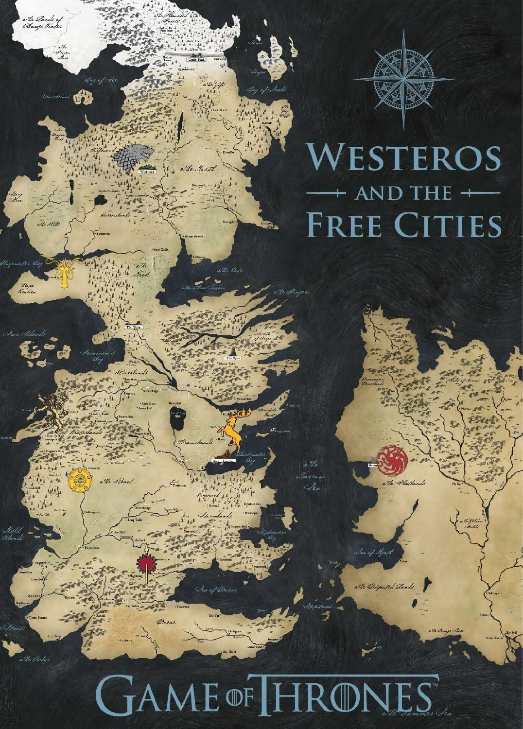 Game of map thrones the gift Winterfell Castle