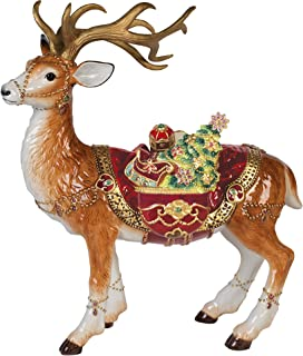 Fitz and Floyd 49-660 Renaissance Holiday Deer Figurine,