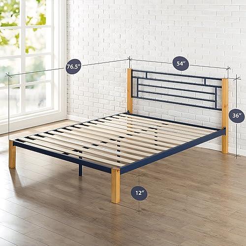 Zinus Taylan Metal and Wood Platform Bed
