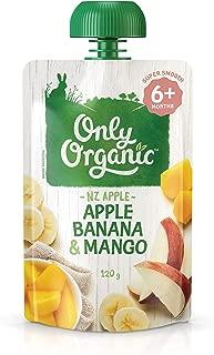 Only Organic Apple Banana & Mango Fruit 6+ Months - 120g