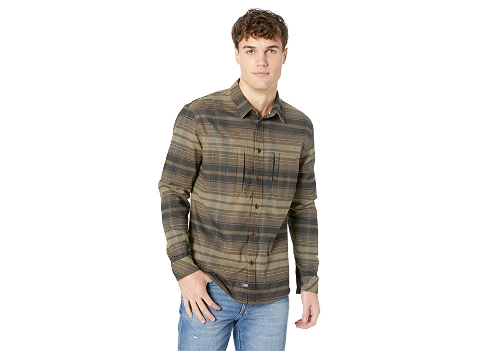 Quiksilver Waterman Thermo Hyper Flannel II Long Sleeve Shirt (Turkish Coffee) Men