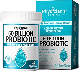 Probiotics 60 Billion CFU - Dr. Approved Probiotics for Women, Probiotics for Men and Adults, Natural, Shel...