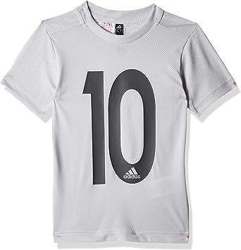 Amazon.com: adidas Kids Young Boys Tshirts Football Messi Icon ...