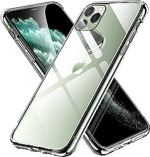 【C'estbien】 iPhone 11 Pro ケース ガラスケース クリア 薄型 背面強化ガラス+TPUバンパー 高透明 耐衝撃 指紋防止 ストラップホール付き アイフォン 11 Pro カバー 5.8インチ (クリア)