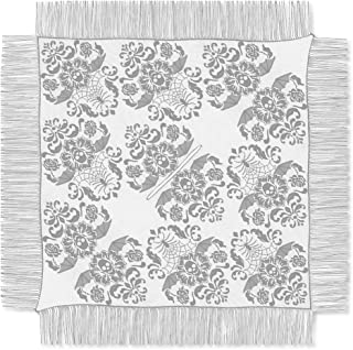 Heritage Lace Halloween Damask Ghostly Poncho, 54 by 54-Inch, Gray