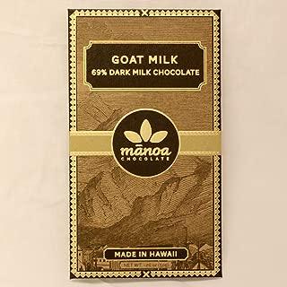 Manoa Chocolate, Bar Chocolate Goat Milk, 2 Ounce