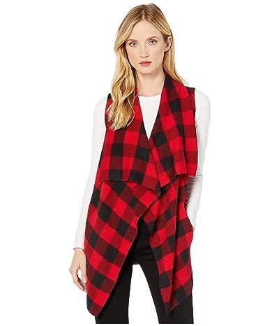 LAUREN Ralph Lauren Plaid Vest (Polo Black/Lipstick Red) Women